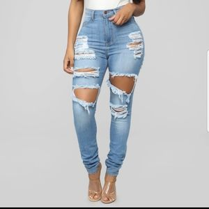 Fashion Nova Play it again skinny jeans